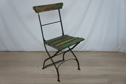 Single Folding Green Chair
