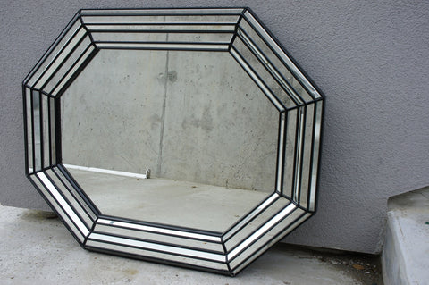 Black Octagonal Multi Faced Mirror