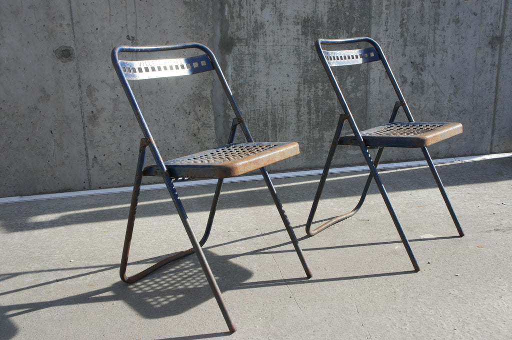 Pair of Folding Metal Garden Chairs