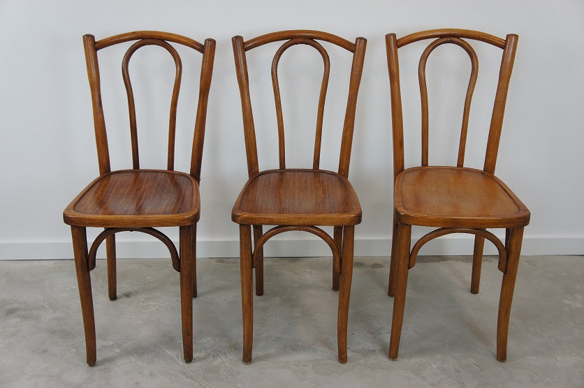 Set of 3 Bentwood Bistro Chairs