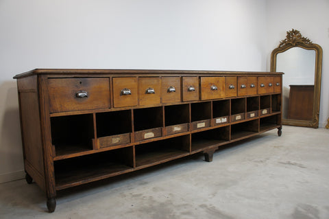 19th Century Oak Bean Shop Counter Sideboard