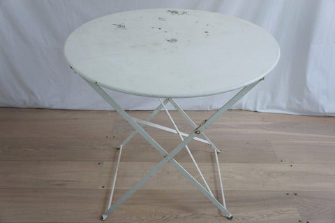 White Metal Circular Table (original Patina)