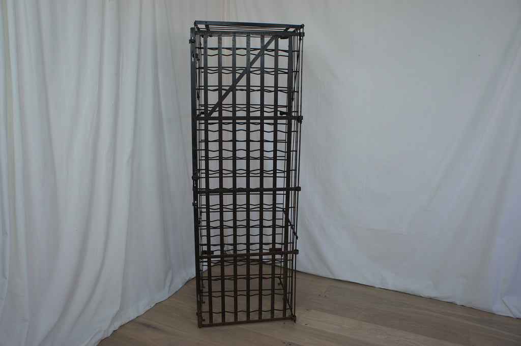 Lockable Metal 75 Bottle Wine Cage