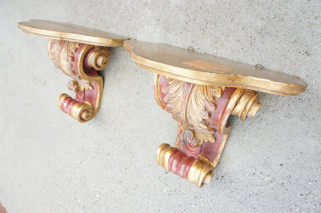 Pair Decorative Scroll Wall Sconces