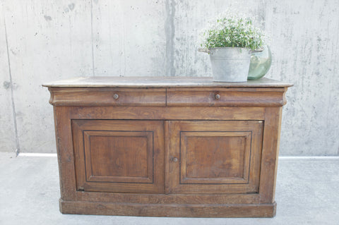 19th Century Elm Shop Counter Sideboard Cupboard