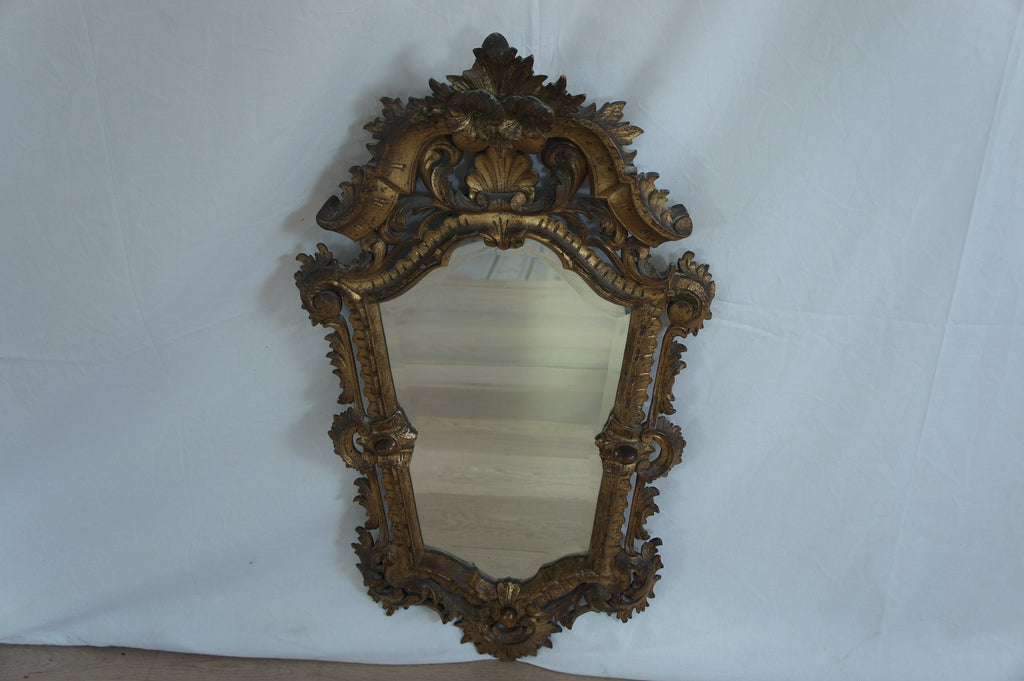 Italian Gold on Sculpted Wood Decorative Mirror