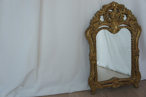 Gold Leaf on Wood Decorative French Mirror