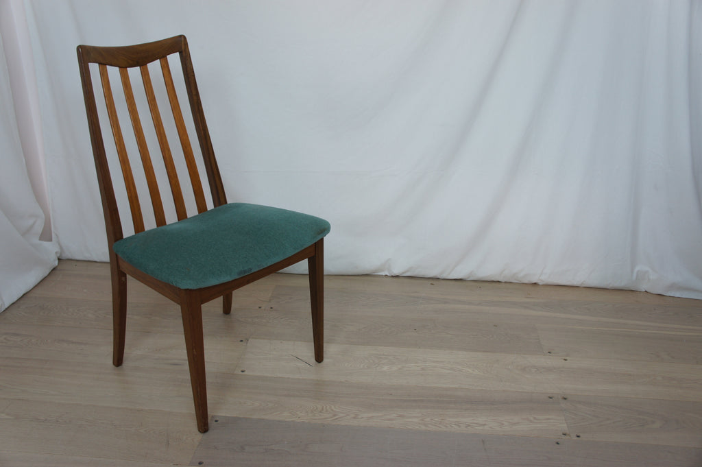 Set of 6 GPlan Mid Century Exotic Wood Dining Chairs