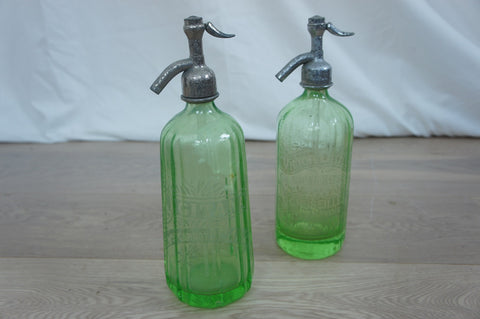 Green Glass Soda Bottles
