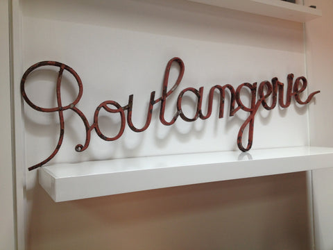 1930's Iron Boulangerie Shop Sign