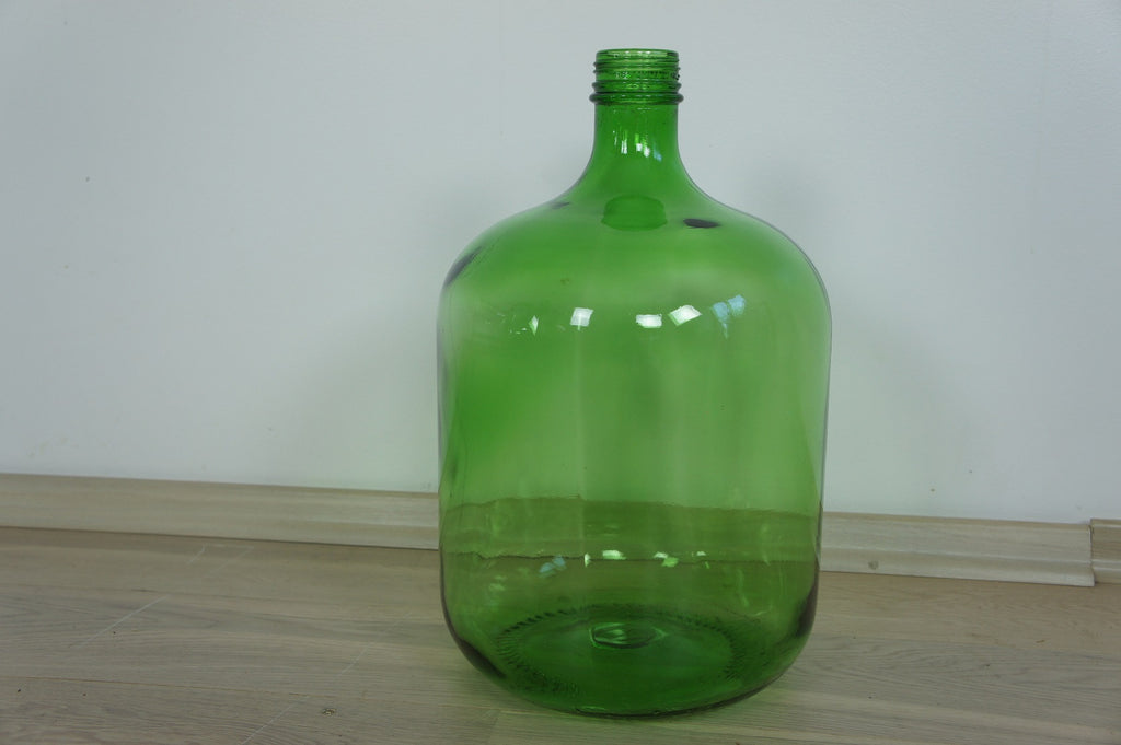Large Bright Green Glass Bottle