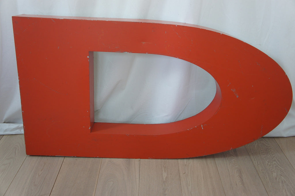 Large Red Metal Letters (selection of different letters available)