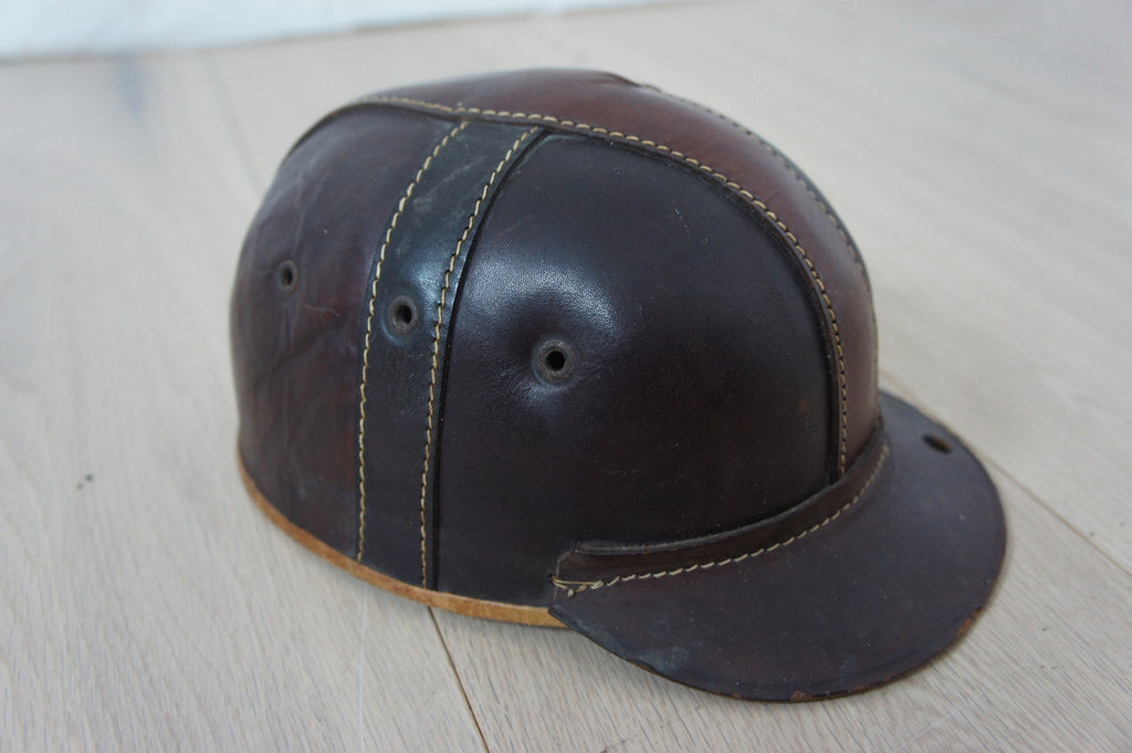 Vintage Leather Horse Riding Helmet