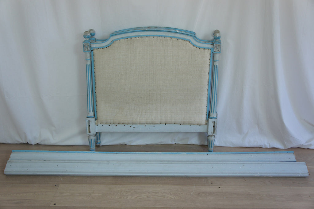 Louis XVI Style Single Bed Frame (Blue)