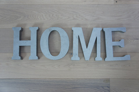 Metal Letters HOME