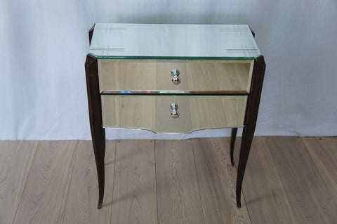1960's Mirrored Bedside Table