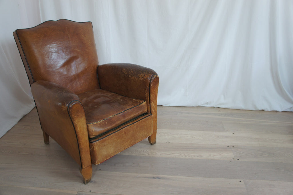 Moustache Leather Club Chair