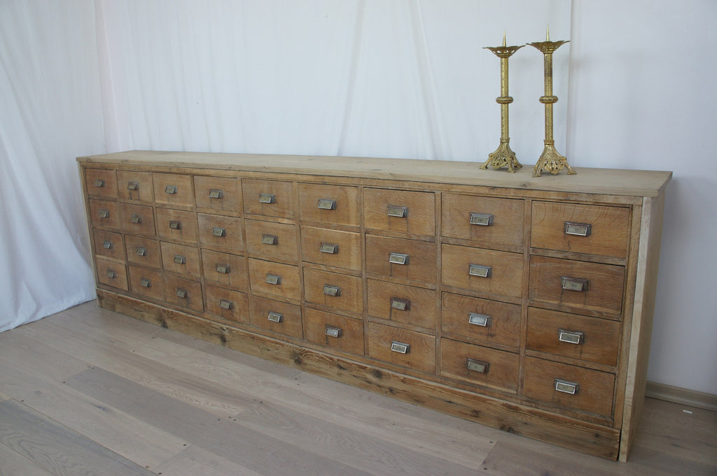 Oak Apothecary Drawers Sideboard