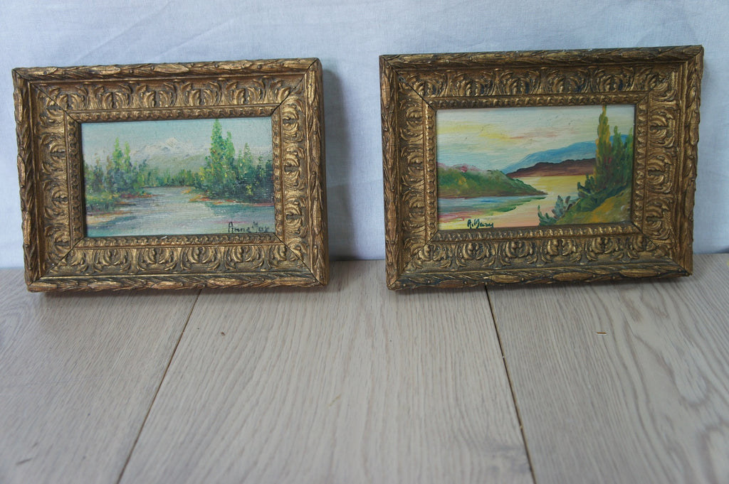 Pair 19th Century Small Picture Frames
