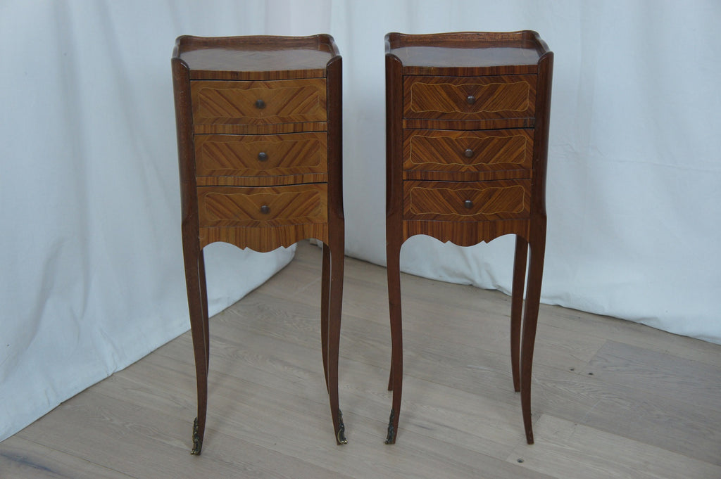 Pair Rosewood Bedside Drawers
