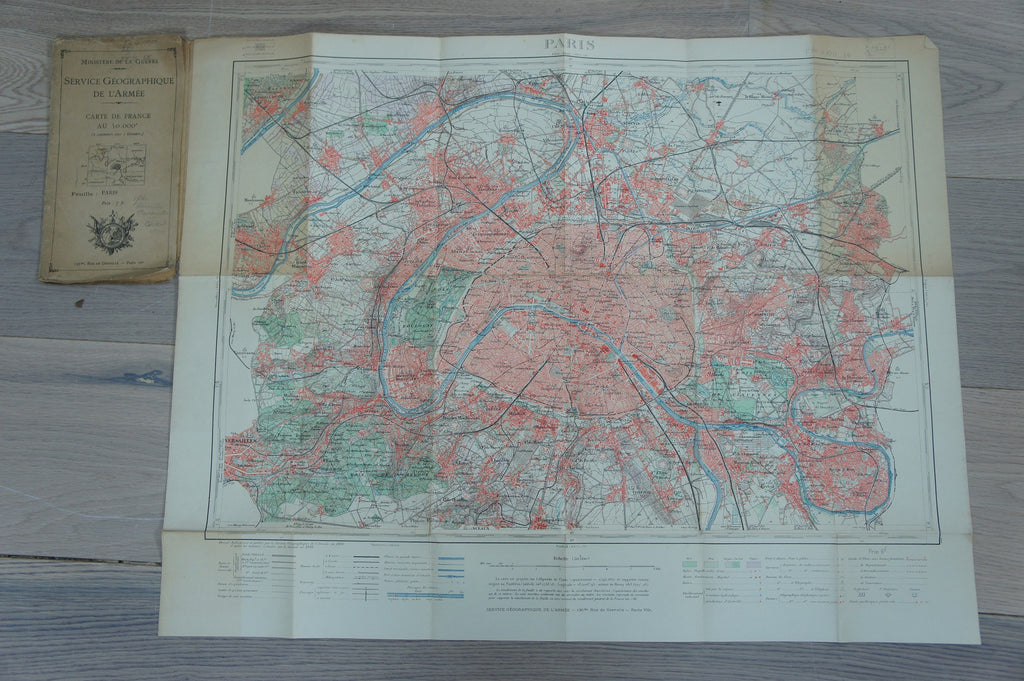 Map of Paris dated 1906