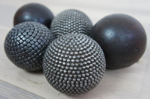 Handmade Metal and Wood Pétanque Balls