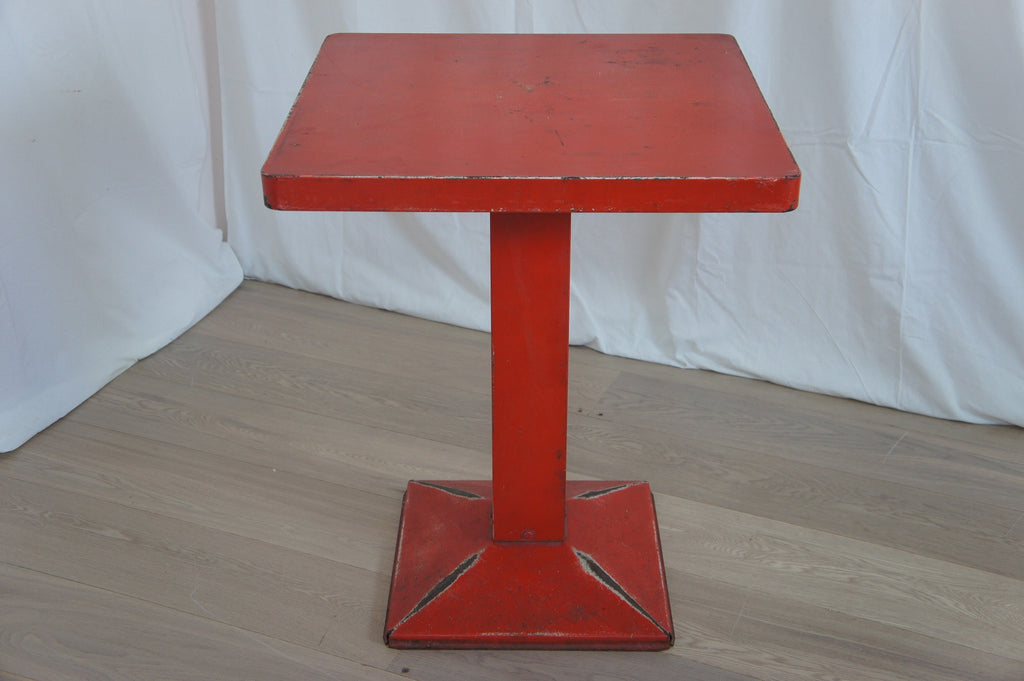 Red Tolix Style Bistro Table