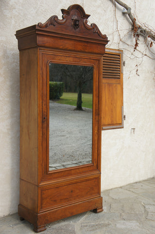 Walnut (Rose) Carved Armoire