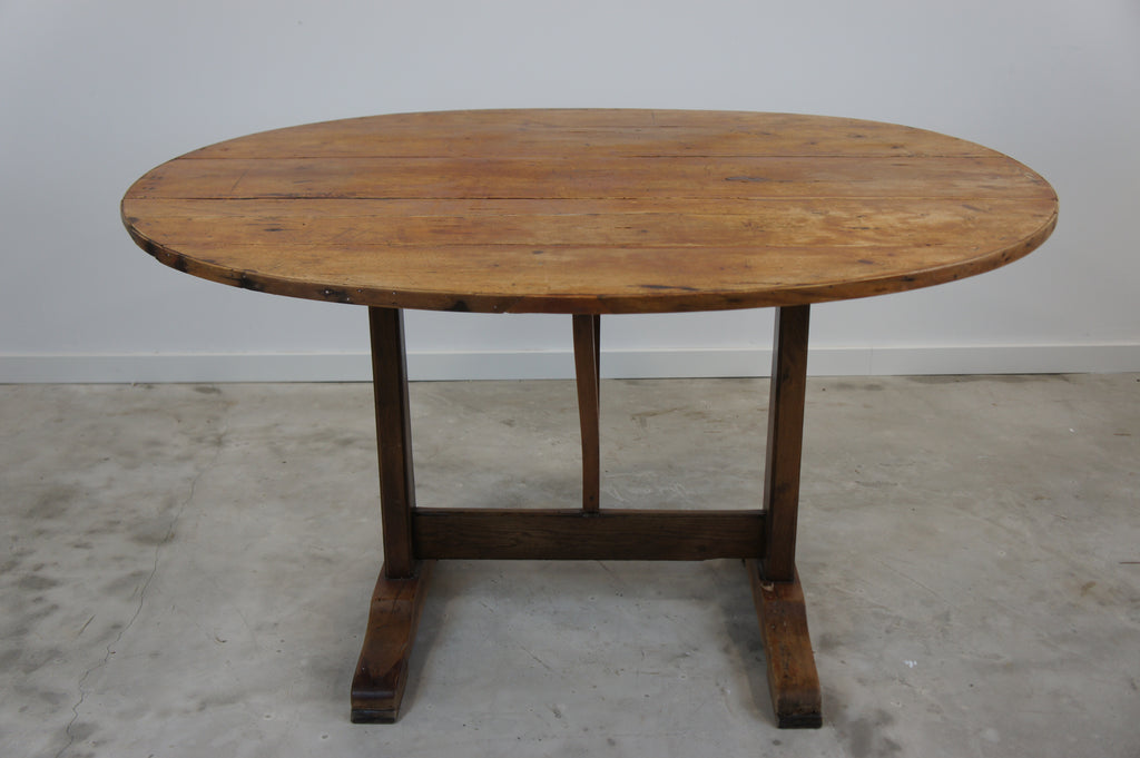 Rustic Folding Oval Table