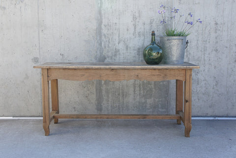 19th Century Rustic Wooden Console Table