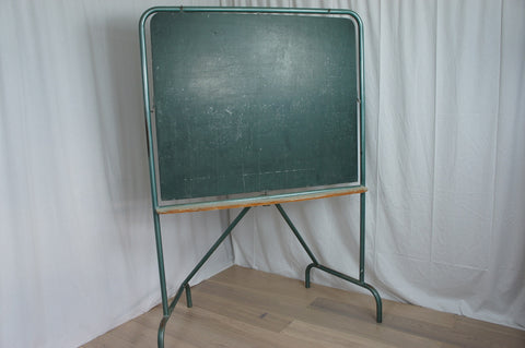 Free Standing Double Sided Industrial Style School Blackboard