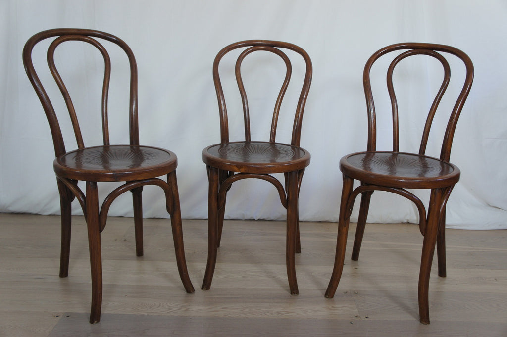 Set of 3 Bentwood French Bistro Chairs