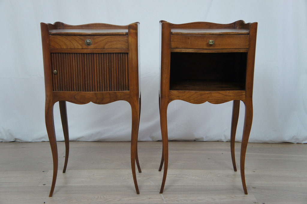 Pair Tambour Bedside Cabinets