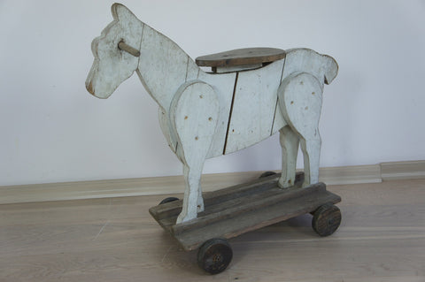 Toy Wooden Horse on Wheels