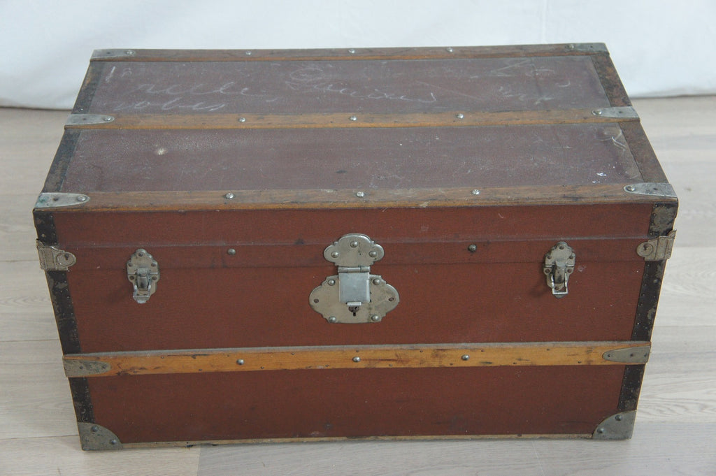 Leather Bound Travel Trunk