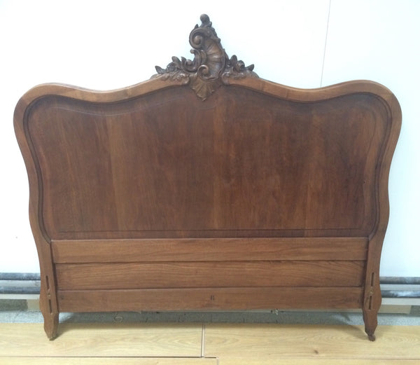 Louis Xv Style Carved Wooden Bed Frame Vintage French