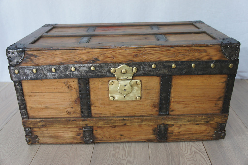 Small Wooden Travel Trunk