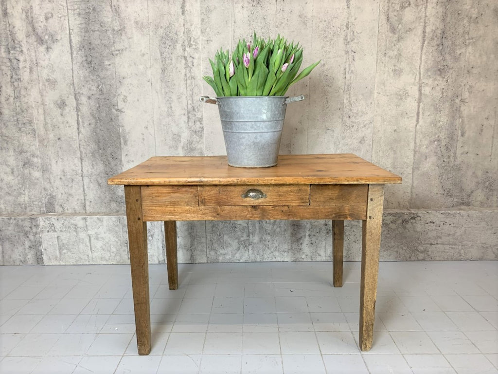 102cm Traditional French Tapered Leg One Drawer Table Desk