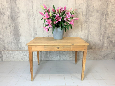 109.5cm Pine Tapered Leg Table Desk