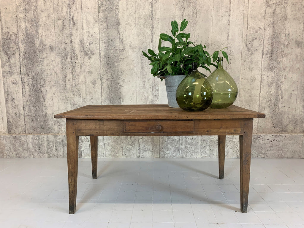 145cm Farmhouse Walnut Wood Kitchen Dining Table Desk