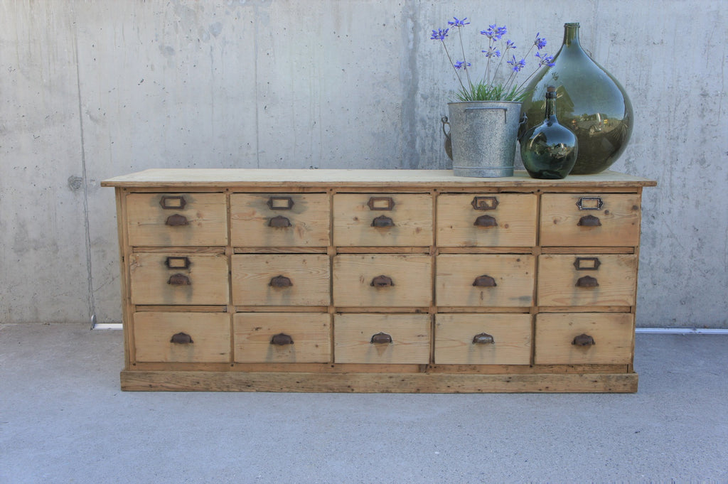 Seed and Grain Shop Counter Sideboard 15 Drawers