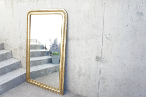 150cm High Louis Philippe Gold Leaf Mirror