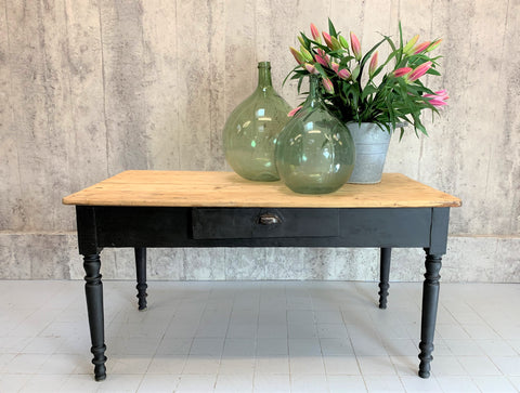 150cm Black Leg French Bistro Kitchen Table Desk