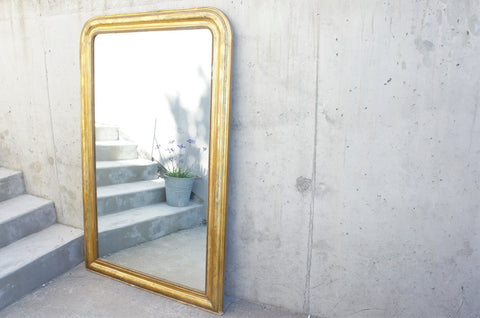 161cm High Louis Philippe Gold Leaf Mirror