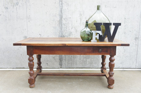 177cm Walnut Wood Dining Table