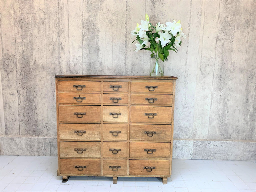 Hardware Store Storage Sideboard 18 Drawers