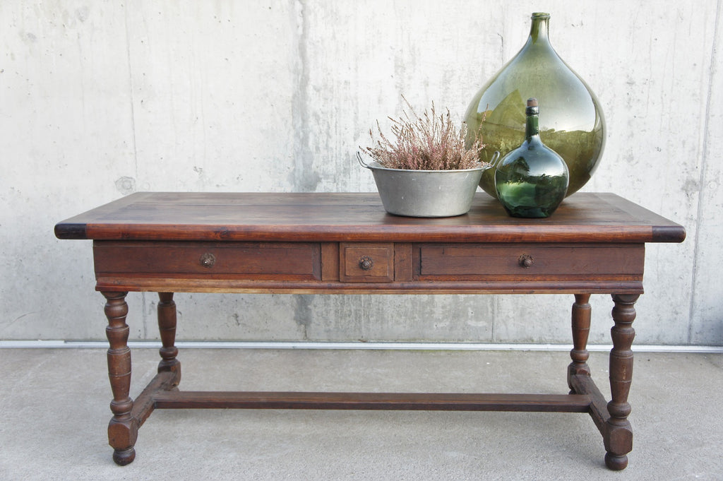 180cm French Solid Oak Refectory Farmhouse Table