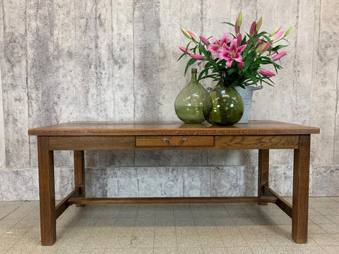 181cm Oak Farmhouse Refectory Dining Table