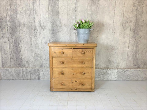 1930's Solid Pine Chest of Drawers