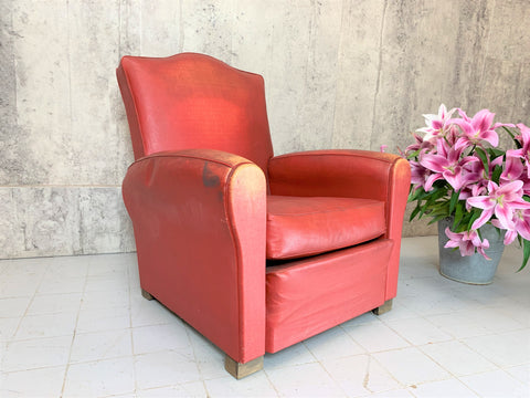 1950's Classic French Club Armchair to Reupholster